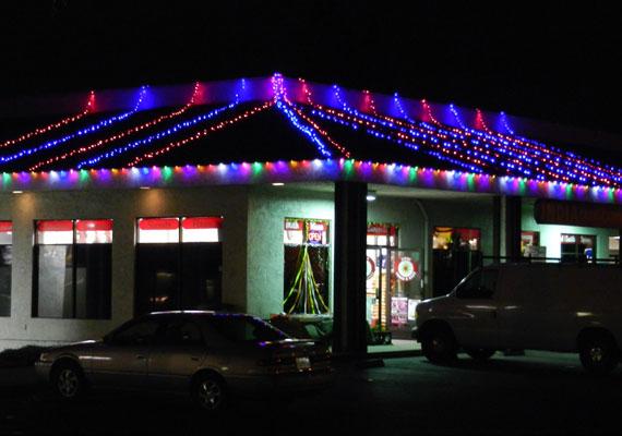 Diwali Festival Lights Commercial Market In San Jose