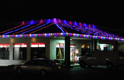Commercial marketplace in san jose India Cash and Carry diwali lights Bay Area Themes