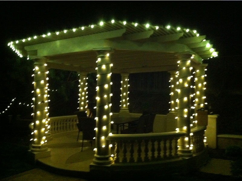 Gazebo Christmas Lights for Residential house San Jose
